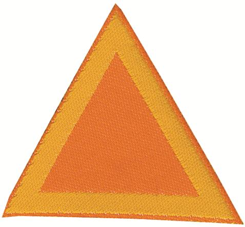 Distintivo di sestiglia Arancio per coccinelle: rappresenta il simbolo di appartenenza alla sestiglia arancio vivo di un cerchio di coccinelle.