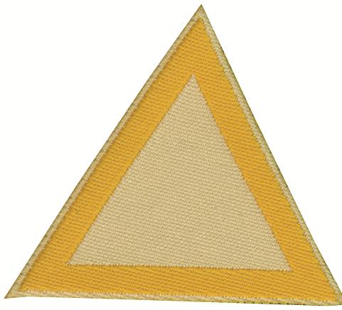Distintivo di sestiglia bianco crema