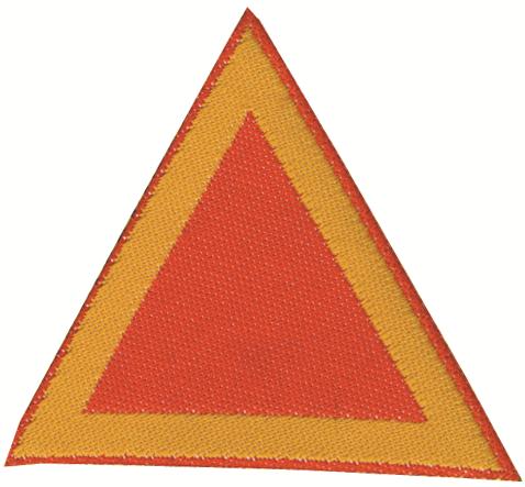 Distintivo di sestiglia per coccinelle Rosso Vivo