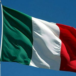 bandiera italia con sagola