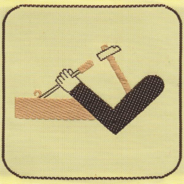 Distintivo brevetto di competenza EG mani abili