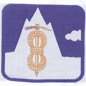 Distintivo di competenza EG Guida Alpina